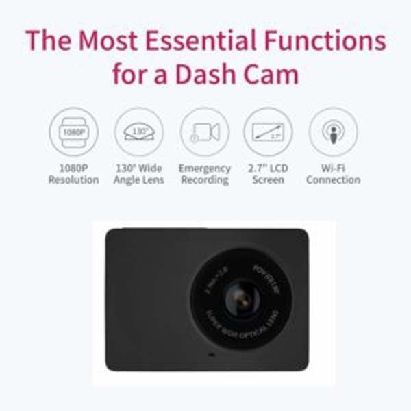 YI Dash Cam 2.7K Screen Full HD 1080P60 165 Wide Angle