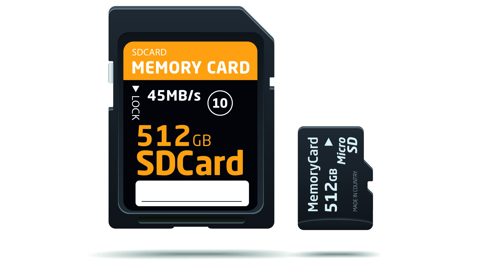 Micro SD compared to a Regular SD card